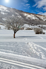 Winter Scenery Majella Mountain Abruzzi Italy