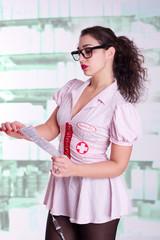 Anmeldung bei Krankenschwester