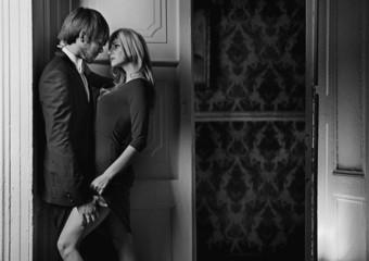 Black&white portrait of a couple