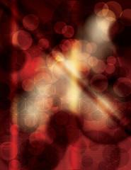 Detailed red bokeh grunge background