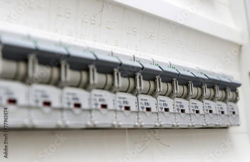 Leinwandbild Motiv Sicherungsautomaten 03555