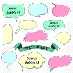 color sketch speech bubble. Vector illustration