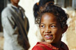 Smiling poor african girl, Madagascar - 77964658
