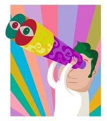 psychedelic binoculars