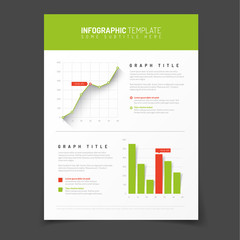Simple infographic template with flat design elements