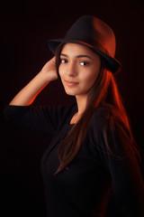 Fedora Teen Girl Fashion Portrait