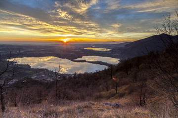 Brianza: sunset over the lakes of Lombardy