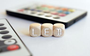 2 LED Remotes With LED-Cube Acronym
