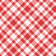 rot-weiß Karo Tischdecke Muster kariert Picknick - 77967046
