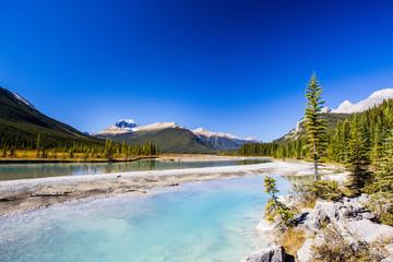 Sunwapta River, Jasper National Park in Alberta, Canada