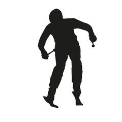 Skier vector silhouette
