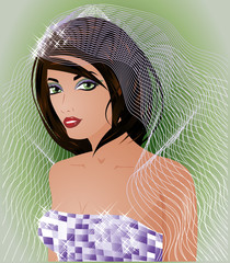 Beautiful sexy bride, vector illustration
