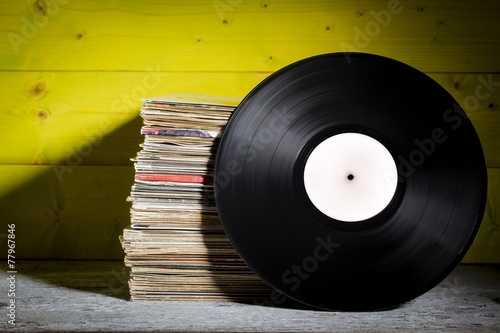 Records Stacked - 77967846
