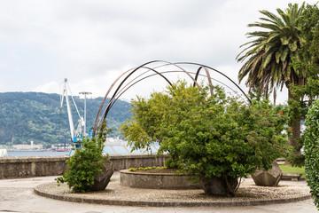 Ferrol garden in front of the port