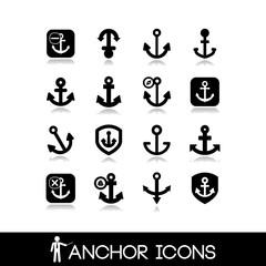 Anchors icons set 1
