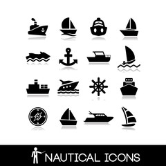 Nautical icons set 8
