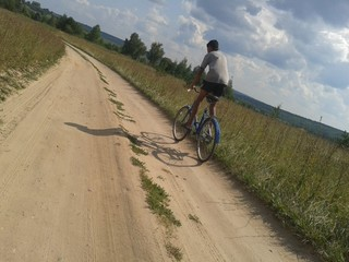 A trip to the field on the bicycle