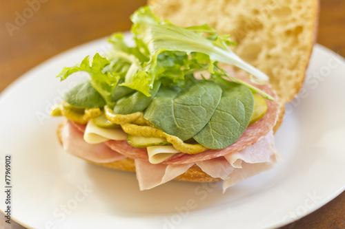Papiers peints Pique-nique Ciabatta Roll Sandwich