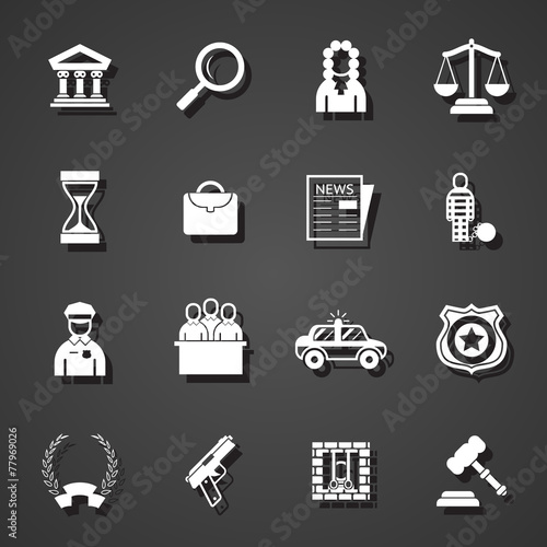 law icons set - 77969026