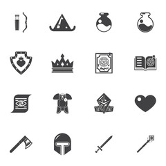 Fantasy game trendy icons