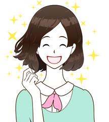 なびく髪 ヘアケア 笑顔