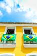 Brazilian flag on the Balcony