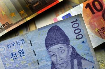 대한민국 원 South Korean Won surcoreano sudcoreano