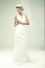 Bride portrait.Wedding dress.