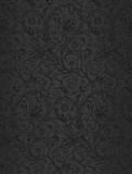 Black seamless wallpaper pattern, vector