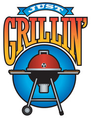 Just Grillin' Barbecue Party Vector Graphic