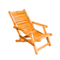 wooden deck chair in retro style
