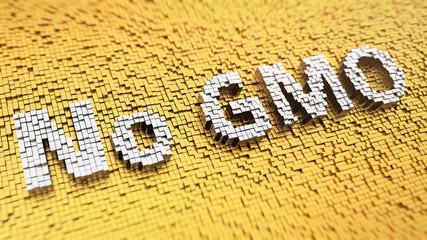 Pixelated No GMO