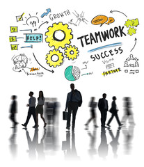 Teamwork Team Together Collaboration Business Commuter Travel Co
