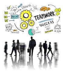 Teamwork Team Together Collaboration Business Commuter Travel Co