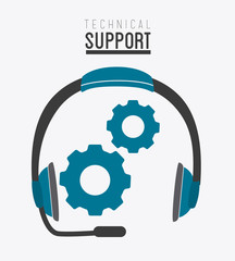 Technical support design ,vector illustration.