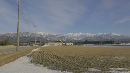 立山連峰冬景色