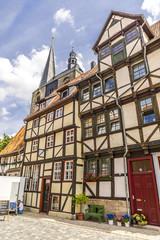 Alte deutsche Häuser in Quedlinburg