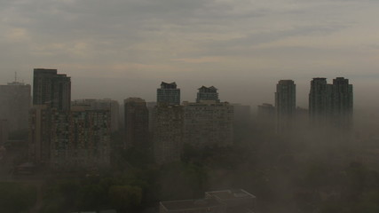 City Fog Clearing Time Lapse