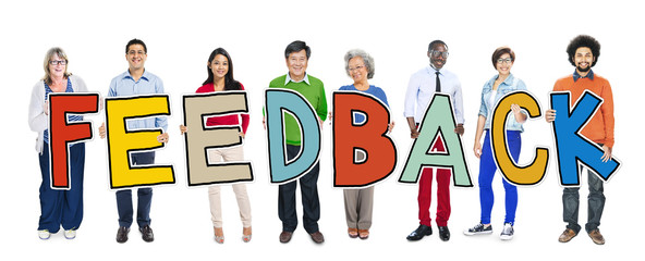Group of People Standing Holding Feedback Concept