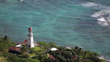 Diamond Head Lighthouse, Honolulu, Oahu, Hawaii, USA.