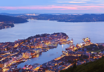 Cityscape of Bergen - Norway
