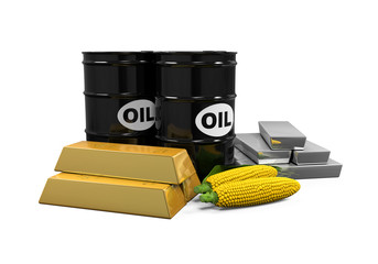 Commodities - Oil, Corn, Gold and Silver