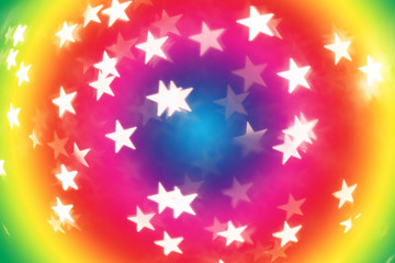 iridescent a boke with stars