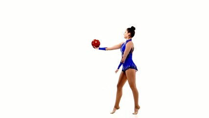 Artistic gymnastics with a ball