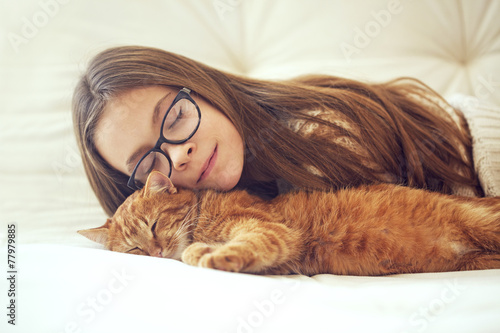 canvas print picture Cat sleeping