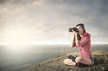 Photographer at the seaside