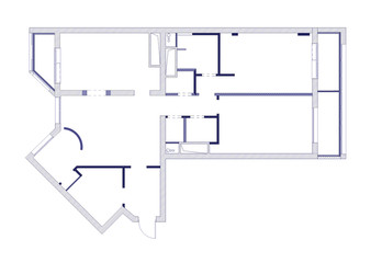 draft plan of the apartment blue