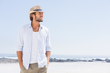 Handsome man enjoying the sunshine