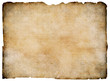 Old blank parchment treasure map isolated. Clipping path is