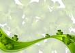 St. Patricks Day green wave vector background